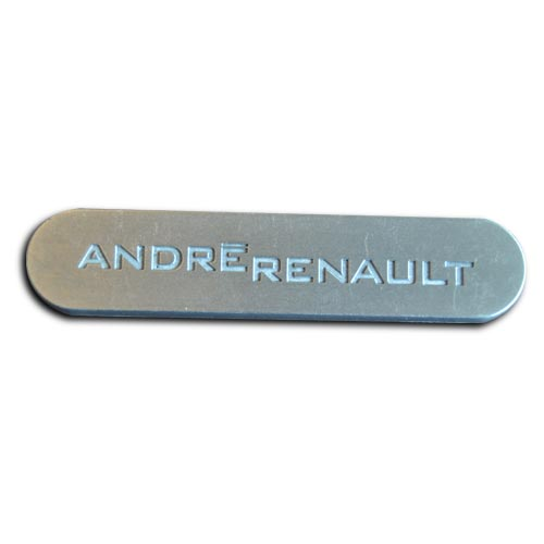 logo métal personnalisé en zamac